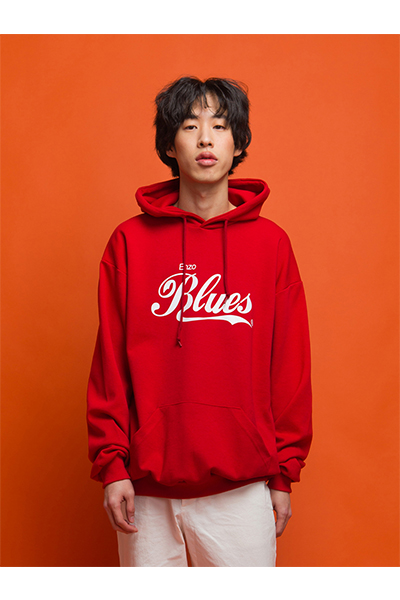 CLASSIC BLUES HOODY (RED)