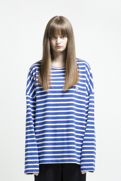 OVERSIZE STRIPE LST (BLUE / WHITE)