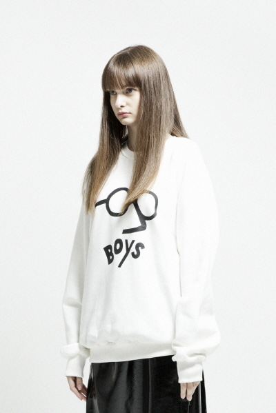 ENZO GLASSES SWEATSHIRT (WHITE)