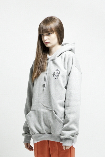 ENZO FACE HOODY (GREY)