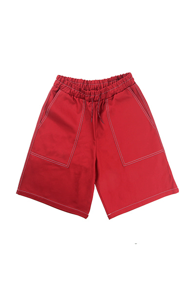 HEAVY TWILL SHORT PANTS (RED)