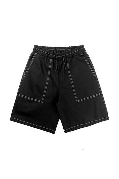 HEAVY TWILL SHORT PANTS (BLACK)