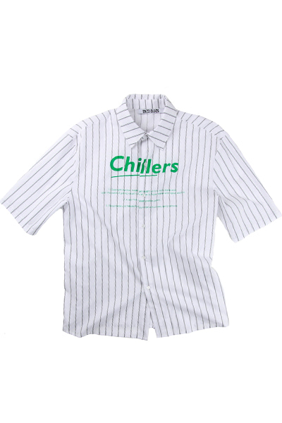 OVERSIZE CHILLERS SHIRT (WHITE / BLACK)