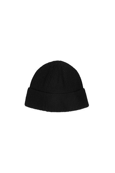 BASIC SHORT BEANIE (BLACK)