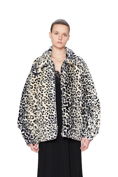 FAKE FUR JACKET (LEOPARD)
