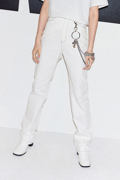 BOOTCUT DENIM PANTS (WHITE)