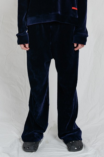 LOOSE FIT CORDUROY PANTS (NAVY)