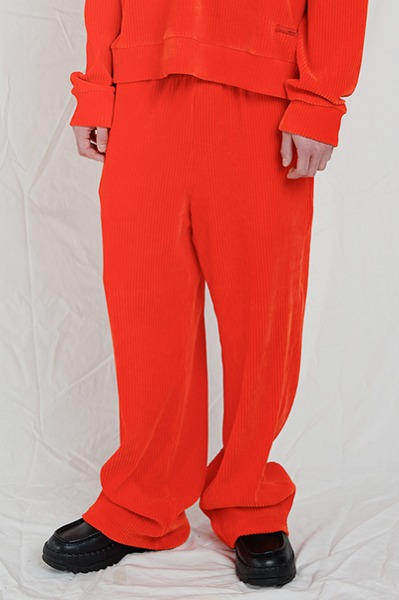 LOOSE FIT CORDUROY PANTS (ORANGE)