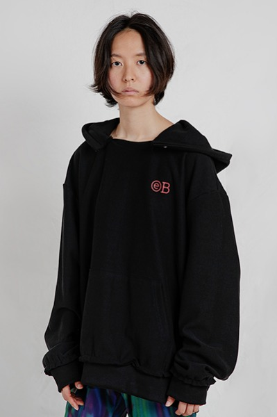 DESTROYED OVERSIZE HOODIE (BLACK)
