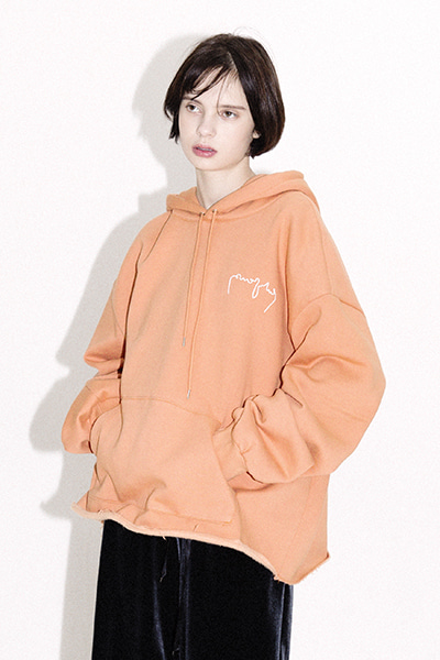 OVERSIZE LOGO HOODY (ORANGE)