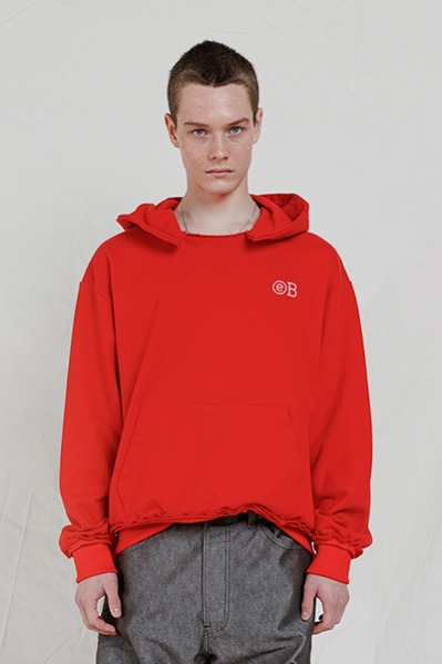 DESTROYED OVERSIZE HOODIE (RED)