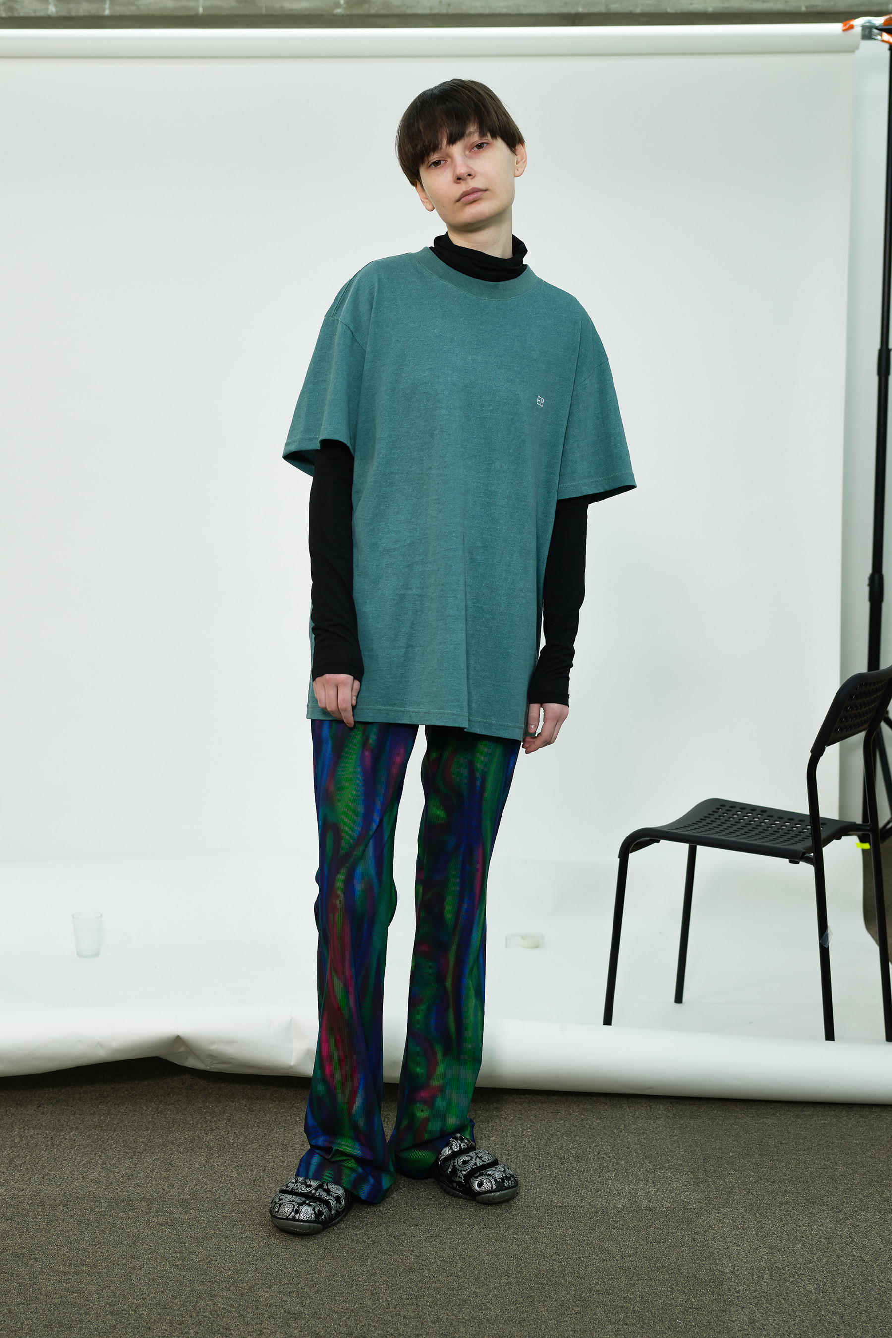 [4월 8일 예약배송] Bootcut Aurora Pants (Purple Green)