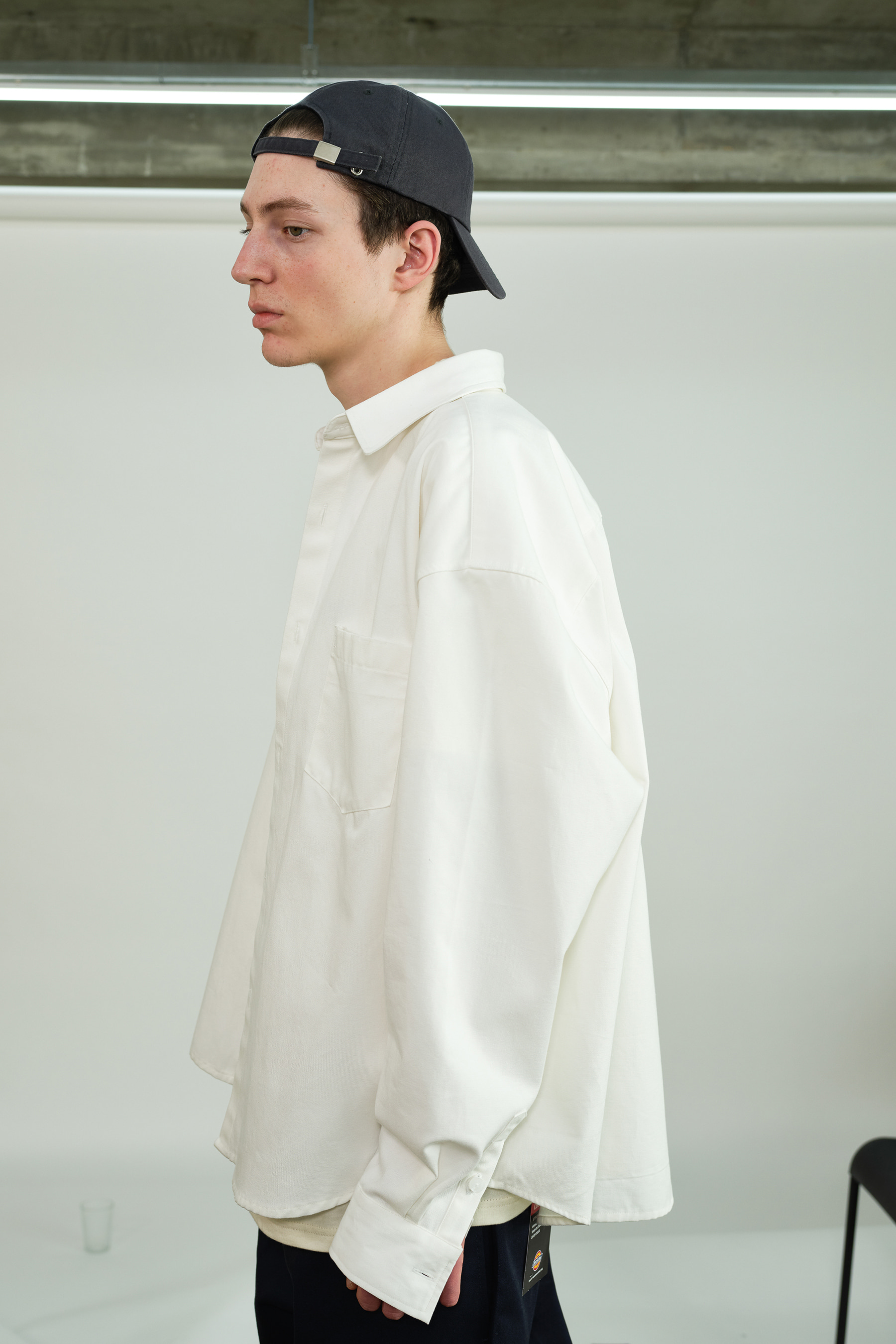 Oversize Heavy Oxford Shirt Jacket (Off-White)